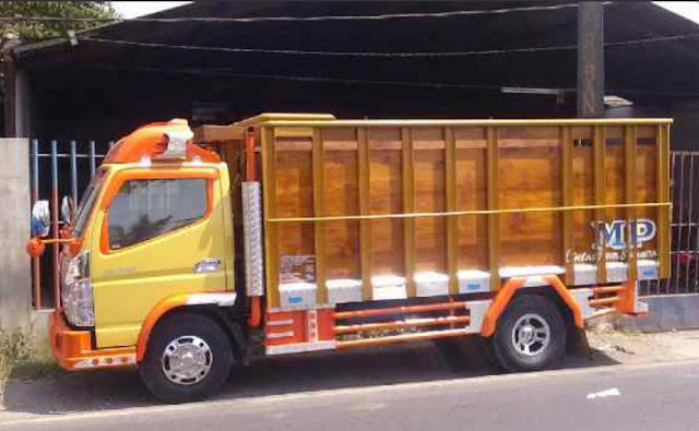 modifikasi bak truk kayu full terbaru