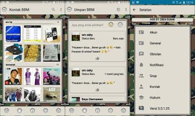 BBM MOD ARMY V3.0.1.25 APK
