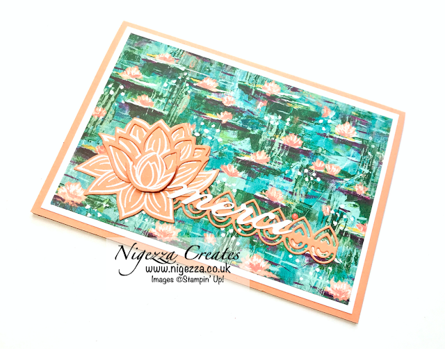 Nigezza Creates with Stampin' Up! & Lilly Impressions, Lovely Lily Pad and Lily Pad dies
