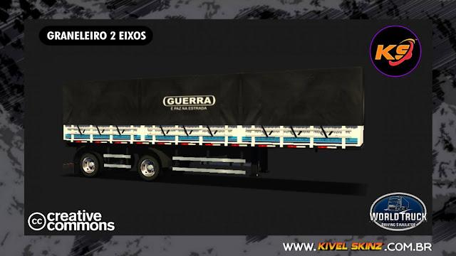 GRANELEIRO 2 EIXOS - GUERRA BRANCA COM FAIXAS AZUIS