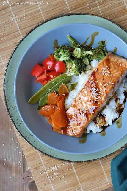 Teriyaki-Lachs-Bowl | Rezept | Essen | Kochen | Fisch