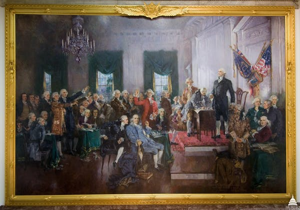 Delegates to the Constitutional Convention had to invent an entire new form of government. Howard Chandler Christy/Architect of the Capitol