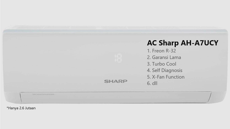 Spesifikasi AC Sharp AH-A7UCY