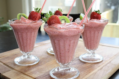 Strawberry Soy Smoothies