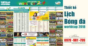 Thiết kế lịch thi đấu bóng đá world cup 2018