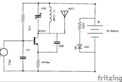 rangkaian RADIO Sederhana -  FM Transmitter