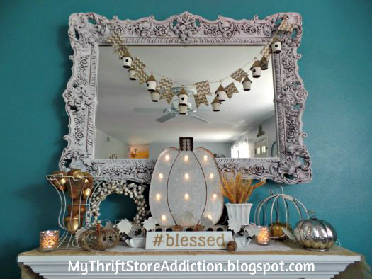 Neutral and metallic fall mantel