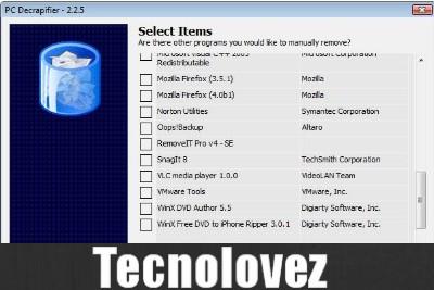 The PC Decrapifier - programma gratuito per ottimizzare il rendimento del PC e liberare spazio