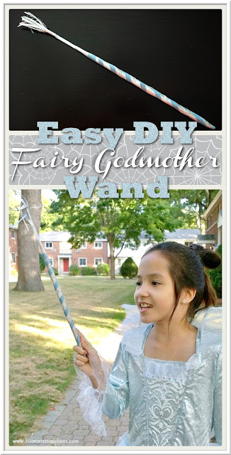 Cinderella Movie Deluxe Fairy Godmother Costume plus DIY Magic Wand Craft| www.3Garnets2Sapphires.com