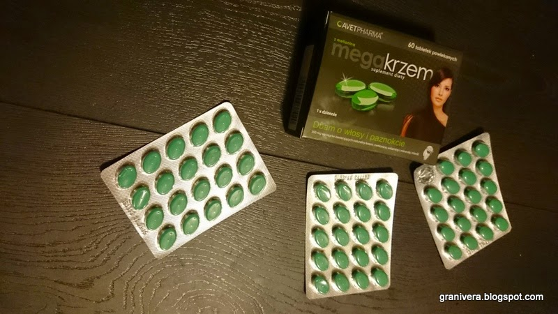 suplement diety  tabletki MegaKrzem z  metioniną