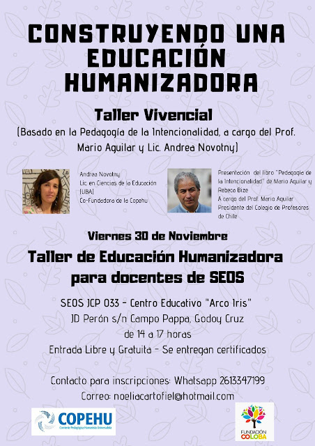 """Talleres vivenciales """"Construyendo una Educación Humanizadora"""" para docentes de SEOS"""