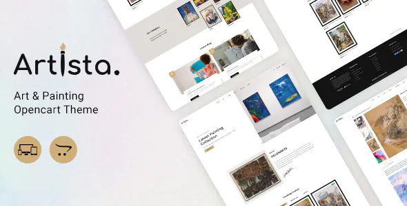 Best Artist and Painting Designers Agency OpenCart Theme