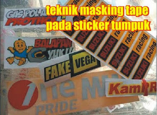 masking tape sticker tumpuk