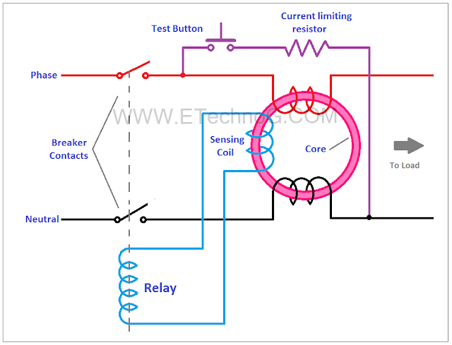 RCCB Circuit Diagram