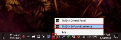 Pilih NVIDIA GeForce Experience
