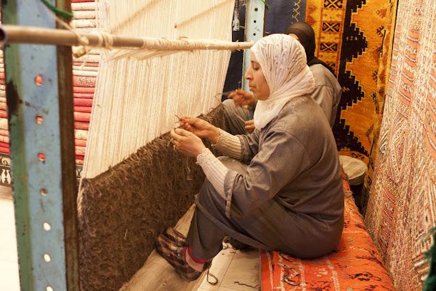 Tessitrice di tappeti-Marrakech