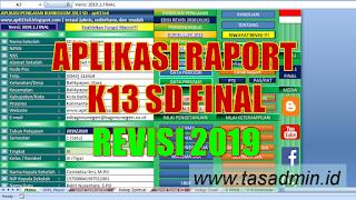 aplikasi raport k13 sd tp 2019/2020