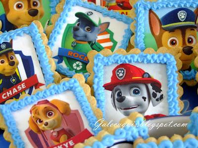 Galletas patrulla canina papel de azúcar