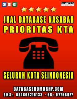 Jual Database Nasabah KTA