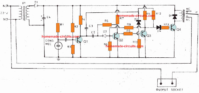 transistorized clap switch relay circuit
