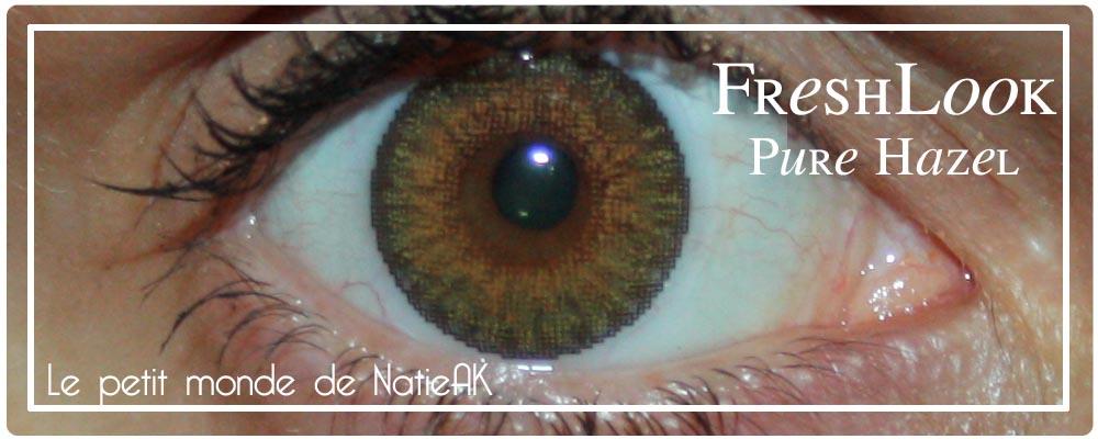 impressions sur les Lentilles de contact de couleur Pure Hazel