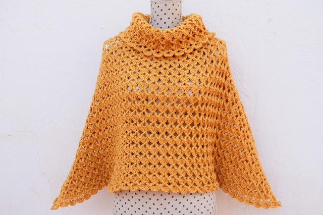 1-Imagen Crochet Poncho cuello de tortuga adulto a crochet y ganchillo y Majovle Crochet