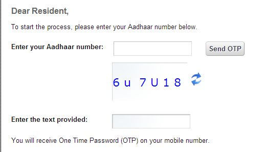 Can we register your mobile number in aadhar card online
