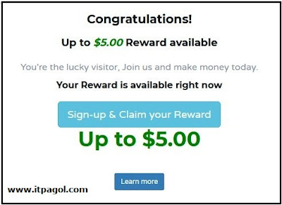 Sign up paidera and Claim your reward