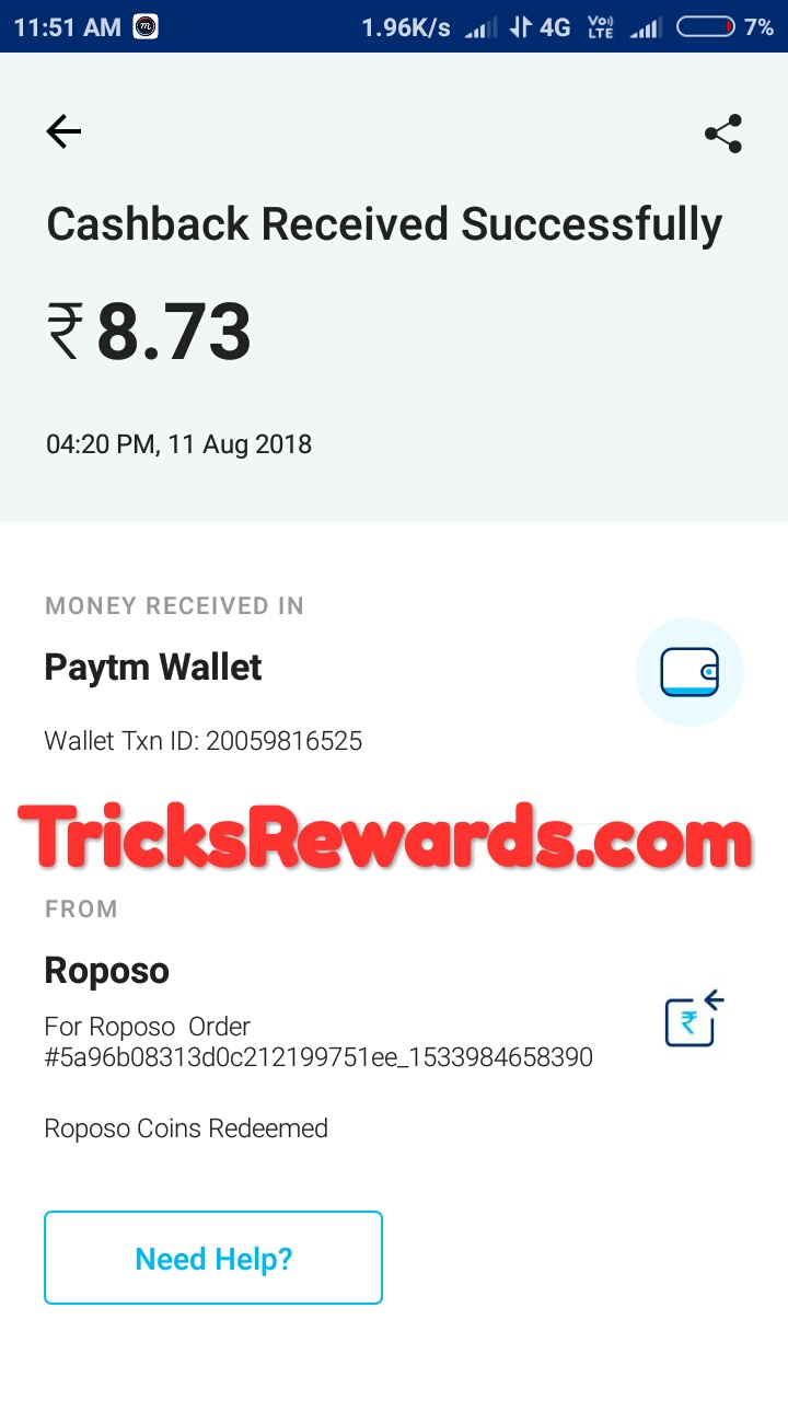 PROOF] Roposo app : Best app to get unlimited free paytm cash upto