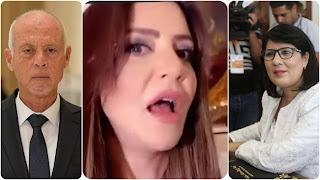 """بالفيديو / """" بية الزردي تخرج عن صمتها و تتهجم على قيس سعيد وعبير موسي"""