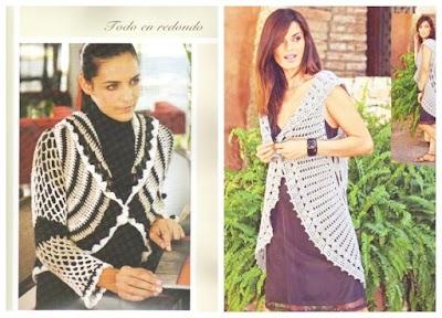 Patron Crochet Chaleco-Bolero Circular