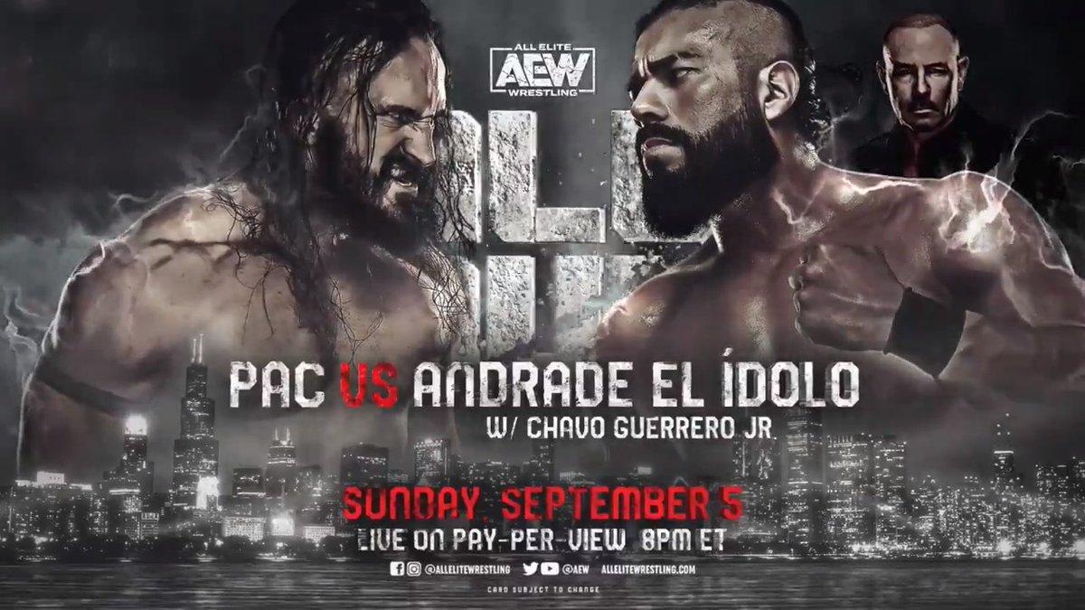 Andrade El Idolo vs. PAC não acontecerá mais no AEW All Out 2021