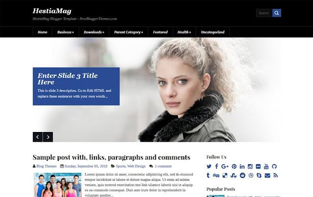 HestiaMag Simple Blogger Template