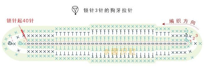 Схема вязания листика тюльпана