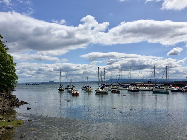 View from Fife Coastal Path, Aberdour fishing boats