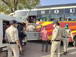 ग्रामीण क्षेत्रो मे बिना वजह बाहर घूमने वाले 130 से ज्यादा लोगो् के खिलाफ अस्थायी जेल भेजने की कार्यवाही की गई