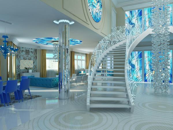 Modern homes interior steps designs ideas.