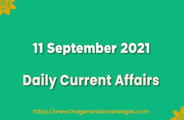 11 September 2021
