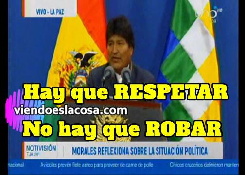 Evo Morales da LECCIONES de MORAL. Enseña a RESPETAR y NO MENTIR
