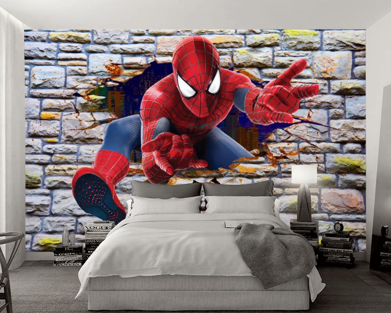 Tranh Dán Tường 3D Siêu Nhân Phong Ngủ Bé Trai Đẹp