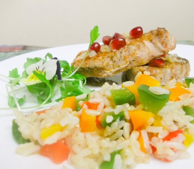 zdrowy obiad , fit jedzenie na parze
