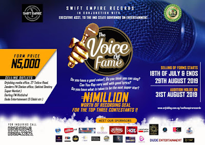 """Voice Of Fame"" The First Ever Music Talent Hunt set To Go Down In Owerri 
