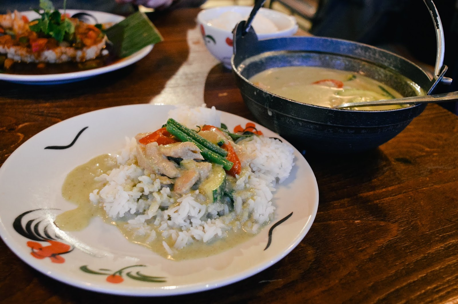 Vegan chain green curry in Thaikhun Southampton