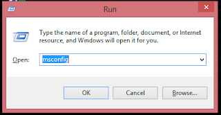 Open msconfig with Run