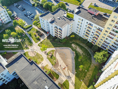 Leherheide, Bremerhaven von oben. WELTREISE