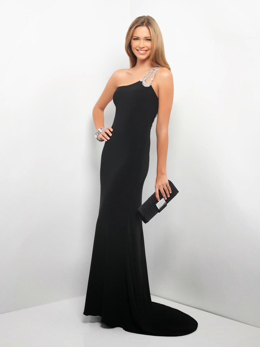 Black And Nude Evening Gown