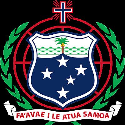 Coat of arms - Flags - Emblem - Logo Gambar Lambang, Simbol, Bendera Negara Samoa