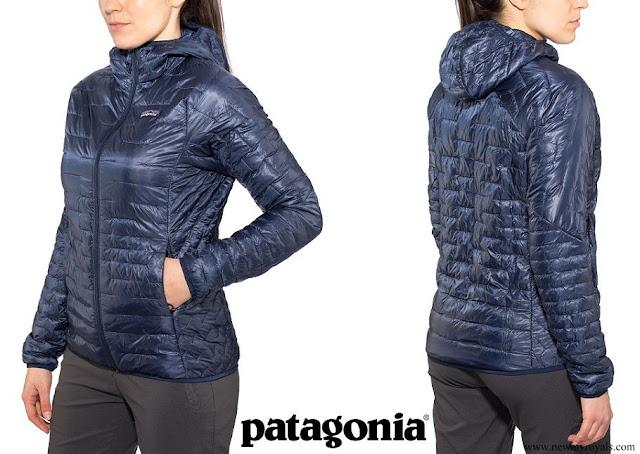 Crown Princess Mette-Marit wore Patagonia Micro Puff Hoodie Classic Navy Jacket