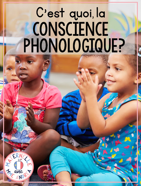 Unsure what exactly is la conscience phonologique? Check out this blog post for information about what exactly your students need to be able to do first, before becoming strong readers and writers. #frenchteachers #maternelle #consciencephonologique