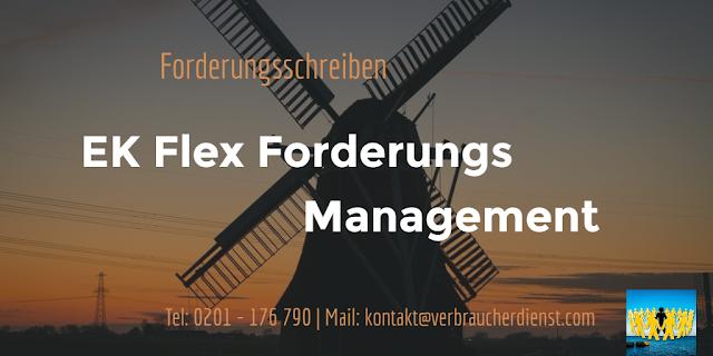 EK Flex Forderungs Management  Forderungsschreiben aus den Niederlanden